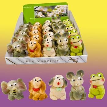 Marzipanfiguren Tiere 5-fach sortiert VE 30 Stück