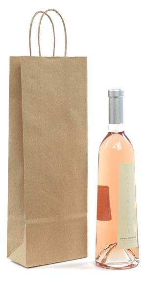 Braune Wein Tragetüte