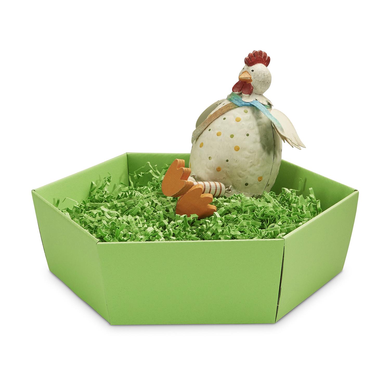grüner Geschenkkorb