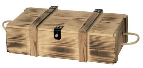 holzkiste geflammt f r 2 flaschen. Black Bedroom Furniture Sets. Home Design Ideas