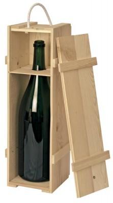 holzkiste natur f r eine 3 ltr flasche. Black Bedroom Furniture Sets. Home Design Ideas