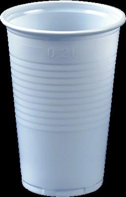 Plastikbecher Trinkbecher 0,2 l, weiß PP, 3.000 Stück