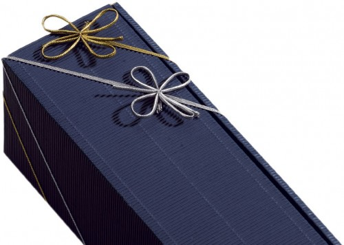 Geschenkschleife Gummibandschleife 70-140cm silber 100 Stück