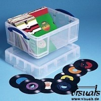 Really Useful Box 7¨ Vinyl-Single-Box medium 18 Liter XL