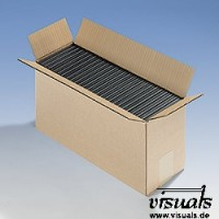 Wellpapp-Faltbox 380 x 138 x 200 mm für 25 DVD´s VE: 25