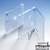 CD-Doppelhüllen Tray transparent -  Maße 142 x 125 x 10 -  VE : 25
